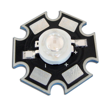 10pcs/lot 1W UV Ultraviolet 360nm LED Light Parts For Currency detector With 20mm Star Base