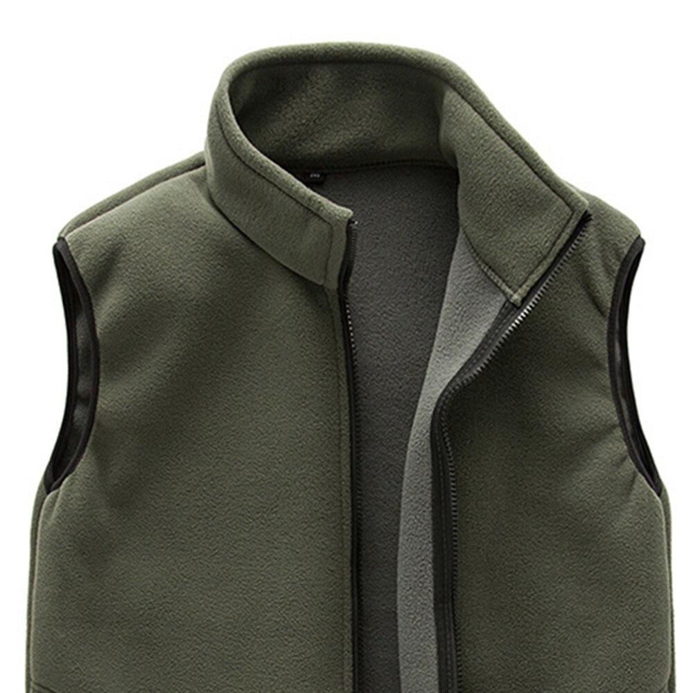 6a495137a US $4.26 40% OFF Winter Men Warm Full Zip Jackets Outerwear Casual Fleece  Vest Outdoor Climbing Hiking Gilets Waist Coat-in Jackets from Men's ...