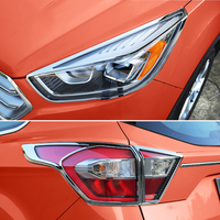 Fit For 2017 Ford Escape Kuga Chrome Front Rear Headlight Taillight Head Light Tail Lamp Cover