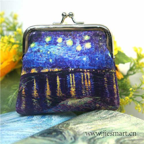 Van Gogh Starry Night Over The Rhone Jiesmart Disesuaikan Sublimasi Koin Dompet Perubahan Tas Bepergian Souvenir Custom