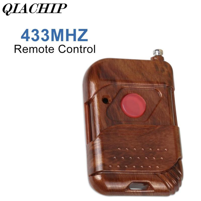 QIACHIP 433Mhz DC 12V 1 Button Wireless Remote Control Switch Transmitter For Electronic Lock Garage Door Opener Car Key Fob Diy