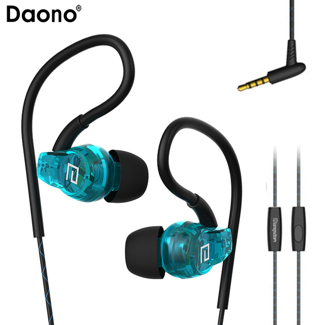 cc6a3e7438e Sweatproof Sport Headphones In Ear Exercise Earbuds Earphones with Remote  and Mic for Running Gym Jogging