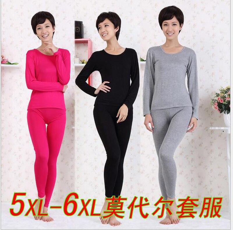 New Arrival Autumn Winter High Elastic Modal Long Johns Super Large Fashion Comfortable Women Underwear Plus Size XL- 6XL