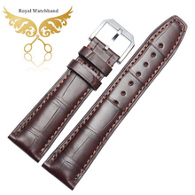 Promotion Genuine BROWN Alligator Leather Band Strap bracelet designed for Brand 22 or 20mm