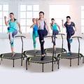 48 Polegada Hexagonal Mudo de Fitness GINÁSIO Salto Trampolim com Corrimão Ajustável para Indoor Esportes Adultos Crianças Segurança