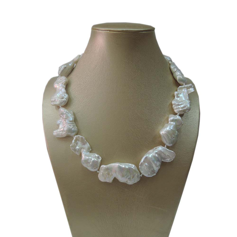 100% NATURE FRESHWATER NECKLACE, BIG Baroque PEARL NECKLACE-AAA good quality-28-45 mm baroque pearl baroque