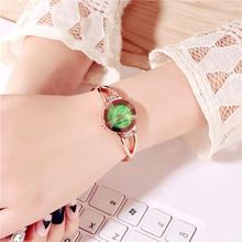 цена на 1 Pcs Women Wrist Quartz Watch Round Dial Rhinestone Luxury Gift for Business GDD99