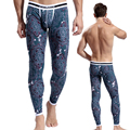 [Asian size, not European/American size] sexy printed long johns pants colorful cotton lucky john good quality thermal underwear