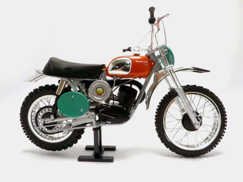 moto bike husqvarna cross 250 1970 hallman 1 12 mx250 in diecasts toy vehicles from toys. Black Bedroom Furniture Sets. Home Design Ideas
