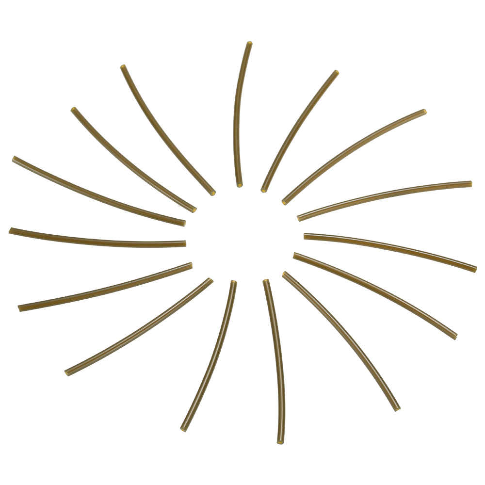 100 個 6 センチメートル * 1 ミリメートル釣りプラスチックチューブ熱暖房収縮チューブチューブ小さなホースパイプ鯉釣りアクセサリー