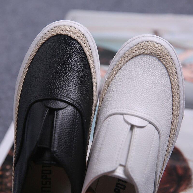Couleur L'usure Résistant Pieds Confortable Chaussures Occasionnels Noir Pédales Pied Un Automne blanc À Solide Fond Plat q8wnt4