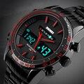 Relogios masculino 2017 skmei marca de relojes de lujo de los hombres militares relojes deportivos hombres reloj digital de los hombres reloj de acero del cuarzo led digital-reloj
