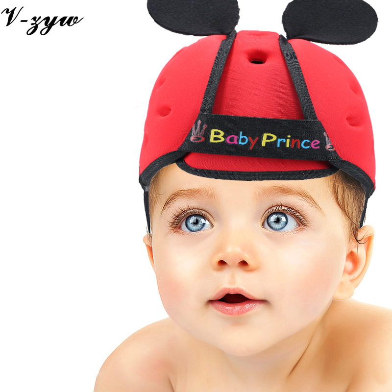 Baby toddler cap anti-collision protective hat safety helmet soft comfortable Security Protection Adjustable Kids Walk Learning