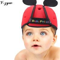 Maluszek mały kapelusz kask cap antykolizyjnej ochronne miękkie wygodne Bezpieczeństwa Ochrony Regulowane Dzieci Spacer Learning
