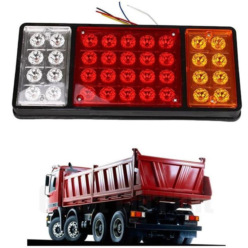 Car Styling 24V 36 LED  Rear Turn Signal Truck Trailer Stop Rear Tail Lights Indicator Lamp Caravan Lorry Car Van External Light