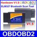 Best Hardware ELM327 V1.5 Bluetooth Scanner ELM 327 OBD2 Diagnostic Tool OBDII Code Reader Supports All OBD II Car Protocols