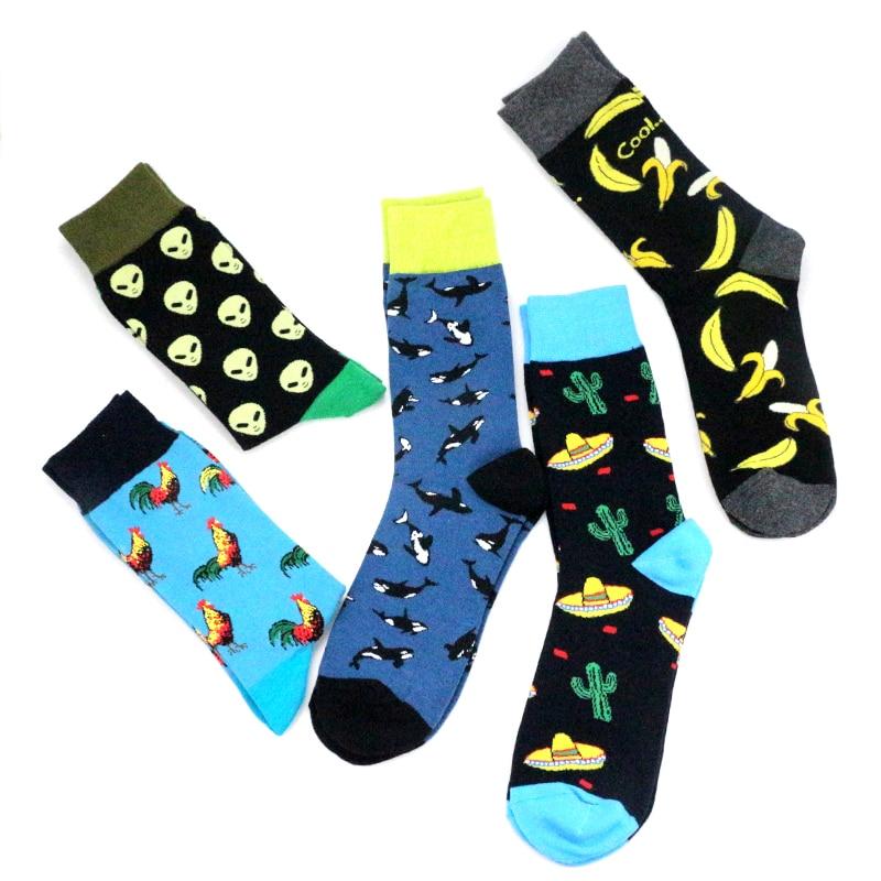 2018 Alien Monkey Chicken Banana Cactus Whale Dinosaur Koala Men Women Couples Socks Funny Happy Plant Socks Cotton Animal Socks