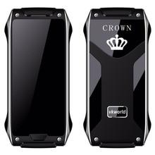 Vkworld Корона V8 телефон 1.63 дюймов OLED Экран Процессор SC6531D dual sim 2 г мобильный телефон сети ИК Blaster металла Рамка 4.9 мм ультра-тонкий