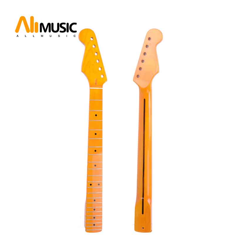 left hand 22 fret maple guitar neck maple fingerboard for st electric guitar replacement in. Black Bedroom Furniture Sets. Home Design Ideas