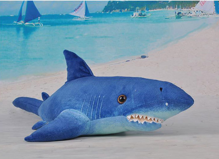 Buy New Stuffed Animal Large Blue Shark