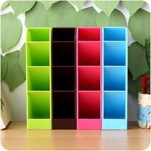 4 cell plastic portable storage box multi-function storage box tie bra socks drawers cosmetics separated environmentally #LC(China)