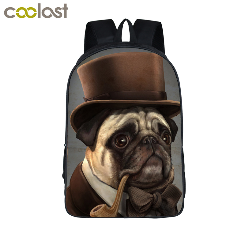 Cool Steampunk Animal Backpack Dog Rottweiler Pug Men Women Daily Backpack Boys Girls School Backpacks Cat Punk School Bags instantarts cute children pug dog backpack men felt travel backpacks for teenege boys 3d animal printed student school bagpack