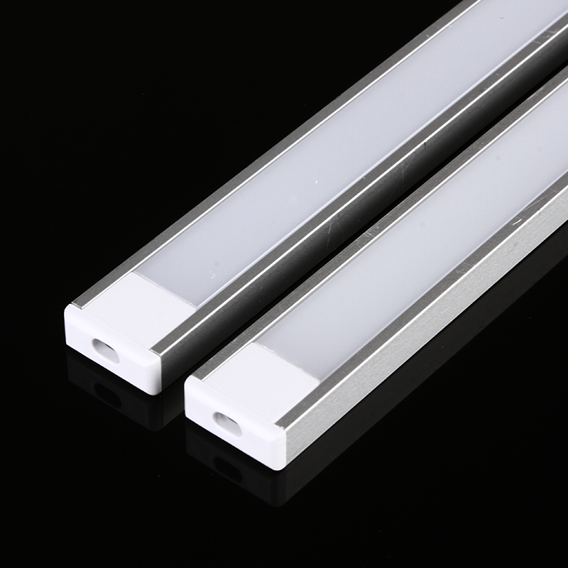 50cm Ultra thin Mini Aluminum Trough Groove Slot for LED Rigid Strip Lamp Bar Light Pot