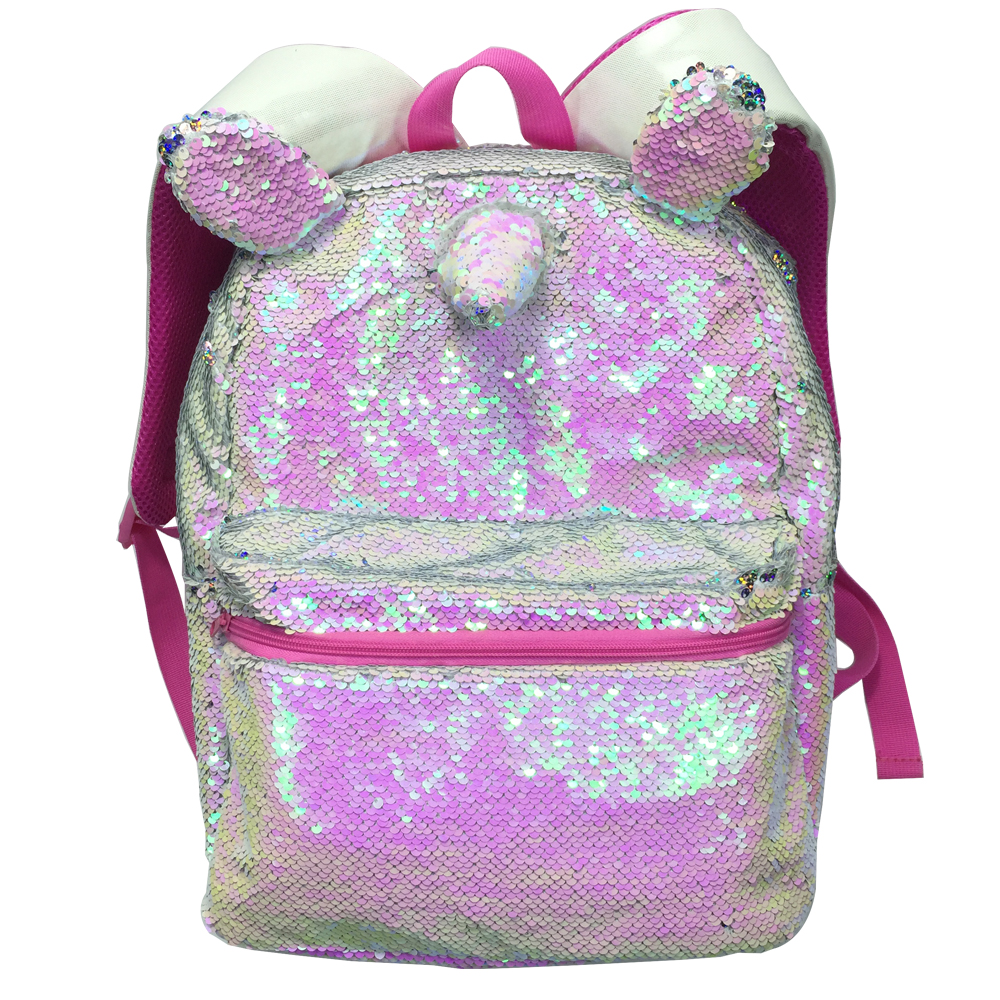 16 Inches Magic Unicorn Sequin Backpack Pink Colorful Rainbow Casual Fashion For Girls School Book Bags Women Mochila Bolsa