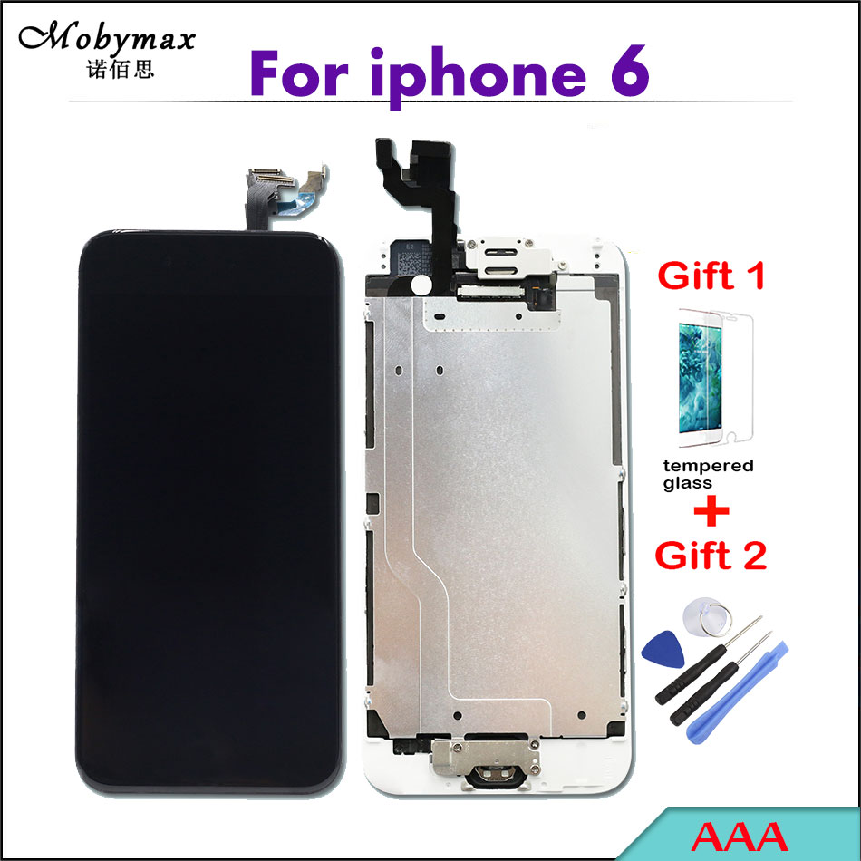 AAA LCD Capacitive Screen for Apple iPhone 6 A1586 A1549 Display Full Assembly Digitizer+Home Button+Front Camera+Earspeaker