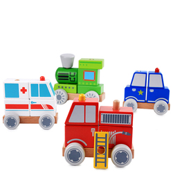 Детская мини-деревянные игрушки автомобиль скорой помощи поезд полиции FireTruck обучения автомобиль рождения Chirstmas подарок для детей Для маль...