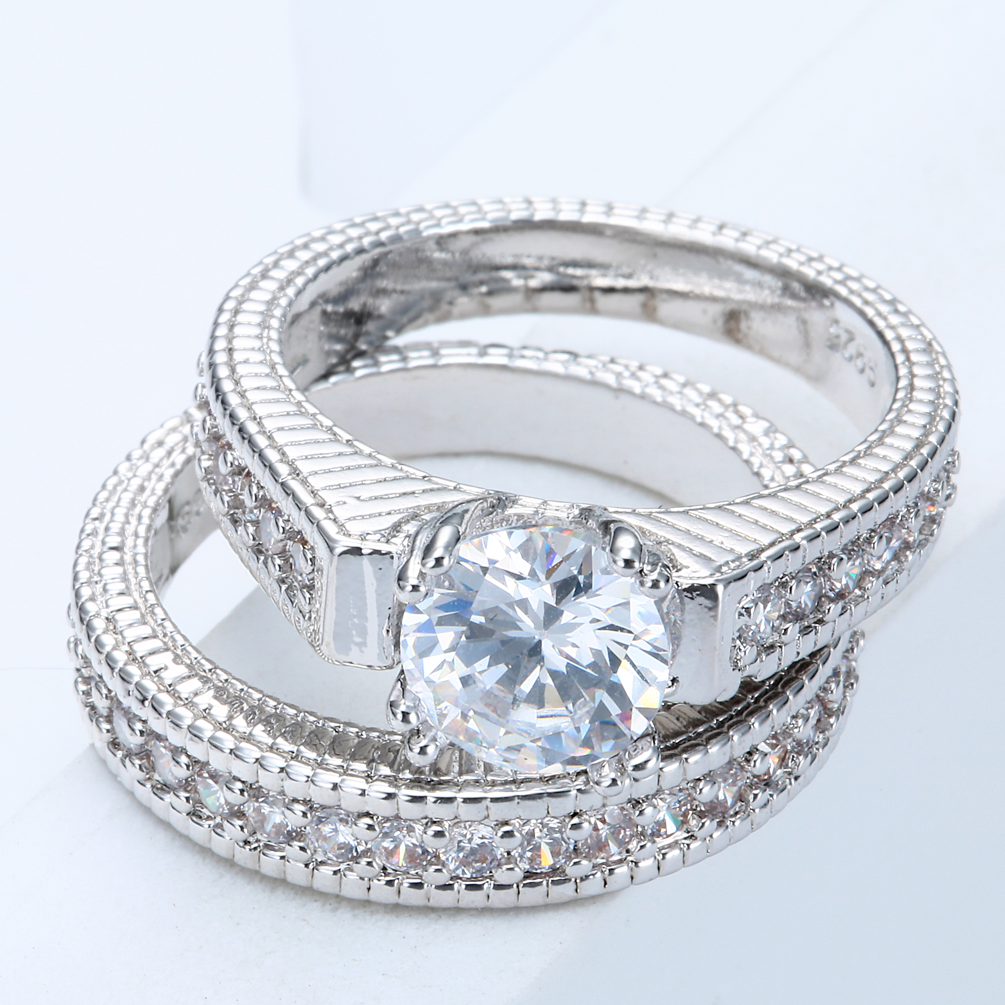 engagementringsre in rings ring engagement micro diamond nyc diamonds tcw platinum from cfm row pave three mdc