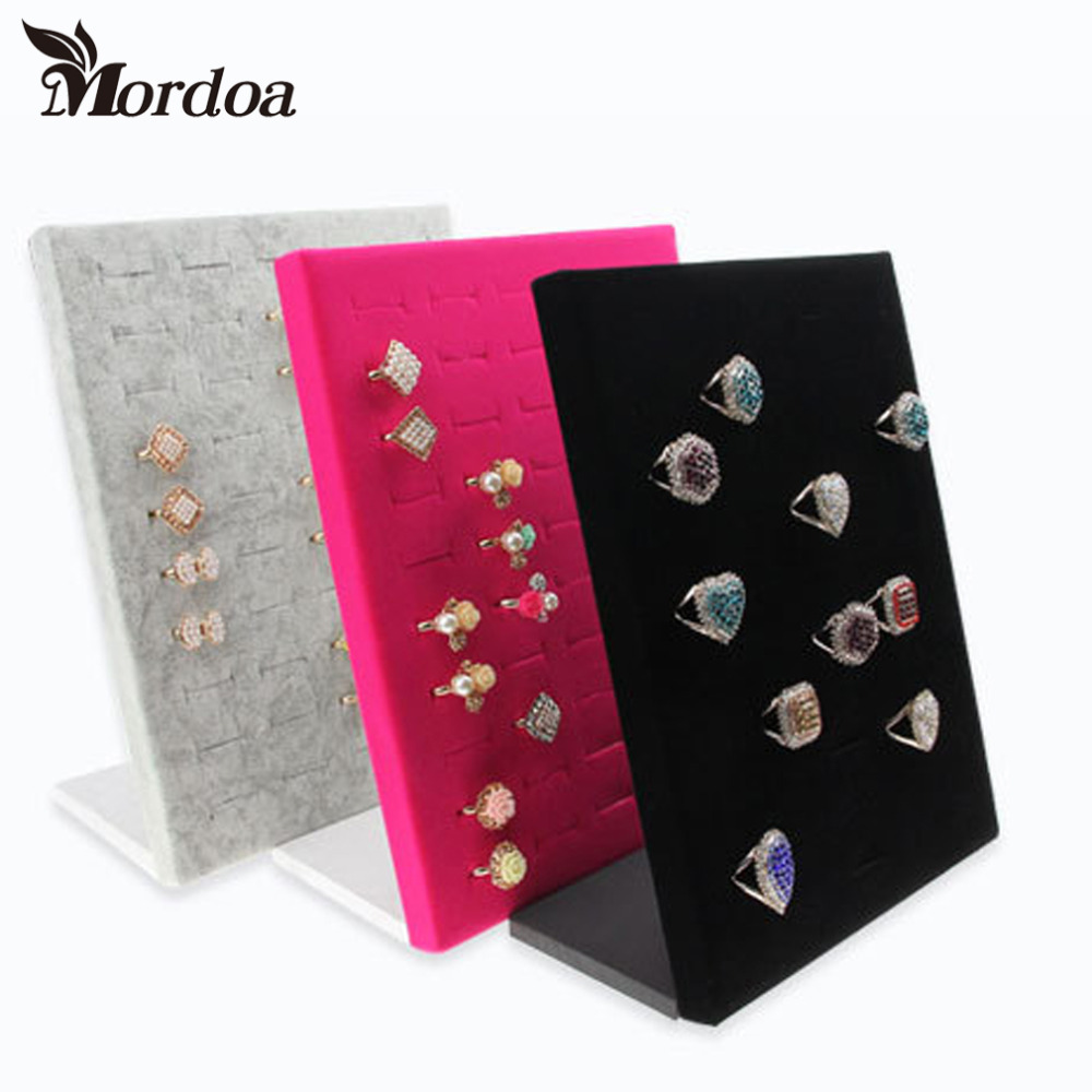 2016 Hot Sale High-end L Shape Finger Ring Jewelry Display Stand Shelf Showcase Finger Ring Holder Rack Stock Free Shipping