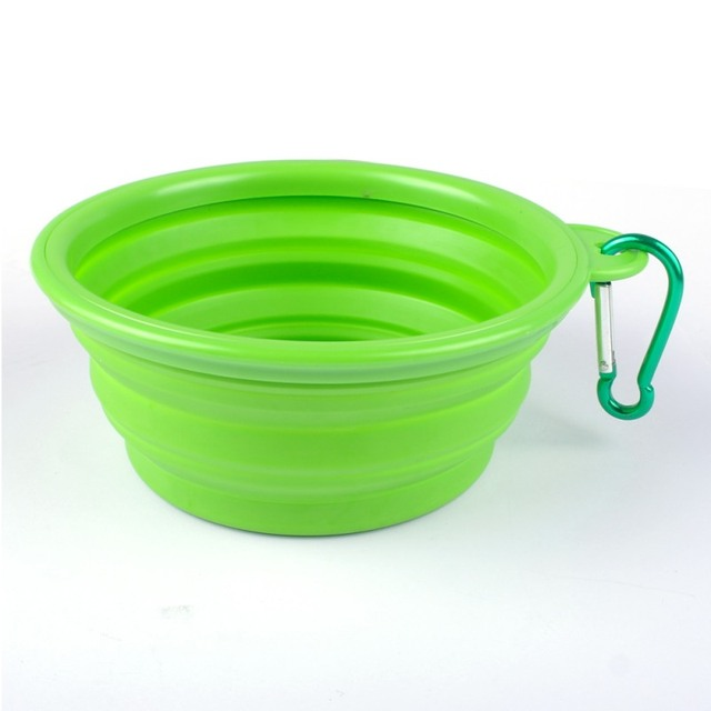 1PCS Dog Bowl,Dog Cat Pet Travel Bowl Silicone Collapsible Feeding Water Dish Feeder portable water bowl for pet