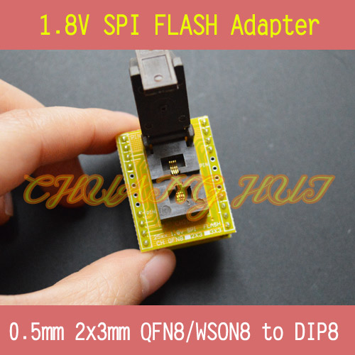 1.8V adapter for Iphone or motherboard 1.8V SPI Flash QFN8 2X3mm 0.5mm W25 MX25 can use on programmers such as CH2015