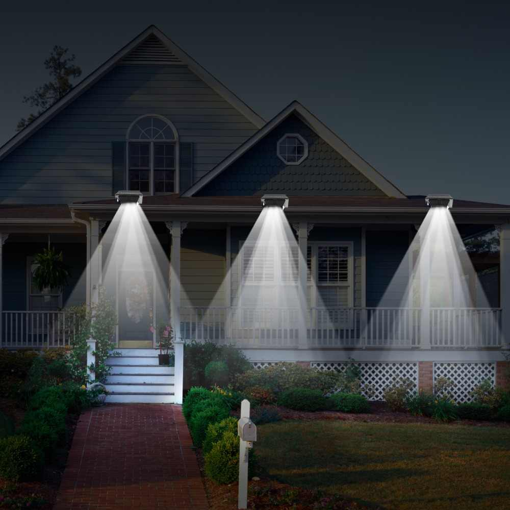 T-SUN 12 LED Waterproof Security Lamp for Outdoor Garden Fence Outside Garage Door Tree wall Light sensor Courtyard house lamp