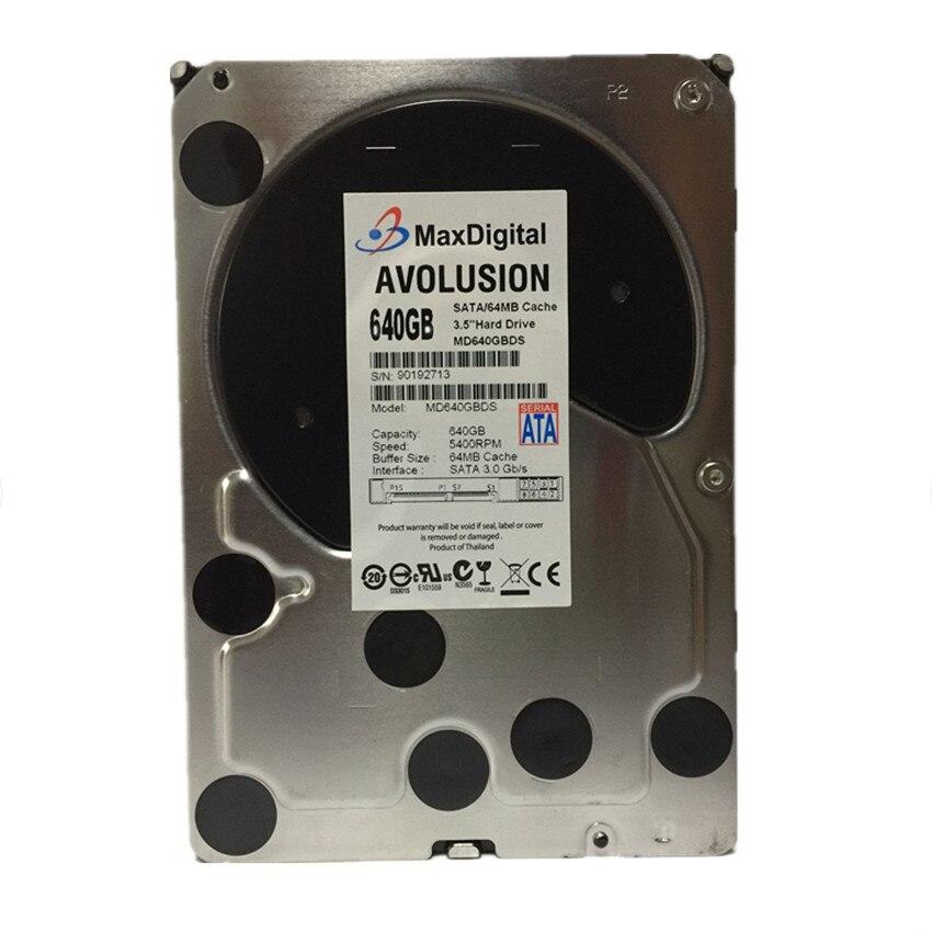 AVOLUSION MaxDigital 640GB SATA 3.5inch Enterprise Grade Security CCTV Hard Drive Warranty for 1-year 395501 002 601452 001 mb0500cbepq 500 gb 7 2k sata 3 5inch 1 year warranty