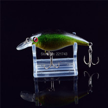 Special Offer New Arrival Hot Sale 1PCS Hard Crank Crankbaits Slow Floating Plastic Bait 3D Eyes Treble Hooks Fishing Lure Bass