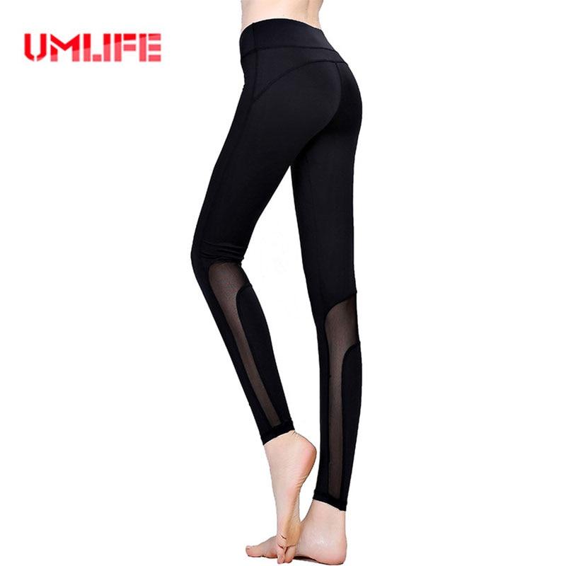 Umlife mujer malla leggings deportes yoga pantalones elásticos mujeres de la apt