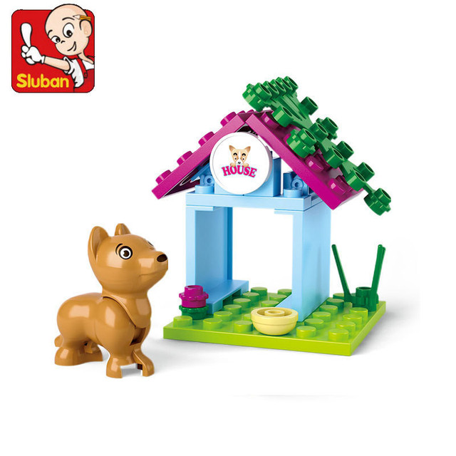 SLUBAN Girl Friends домик для щенка модель строительные блоки классические обучающие игрушки для детей