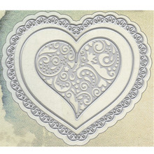 YaMinSanNiO Lace Frame Heart Dies Metal Cutting Embossing Stencil DIY Scrapbooking New Crafts Card Die Template