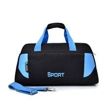 купить Outdoor Men Sports Gym Bag Fitness Swimming Yoga Mat Bag Women Travel Luggage One Shoulder Handbag Portable Training Sport Bags по цене 1185.99 рублей