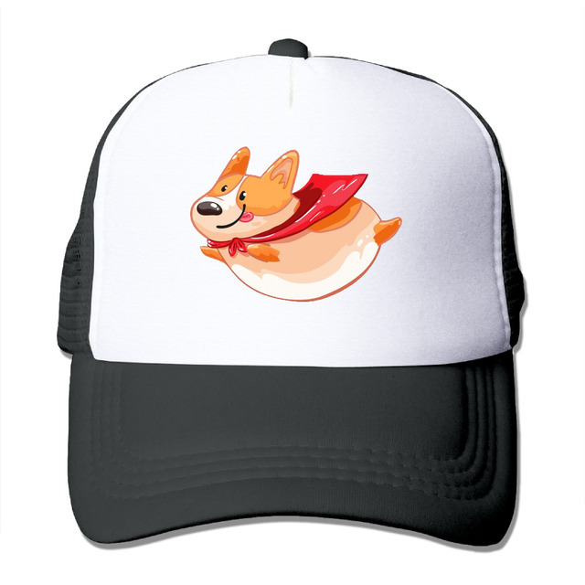 DUTRODU Unisex Baseball-caps Meshback Flying Fat Corgi Cap Hats hip hop hat  vary colors fitted 8d19644e8d7