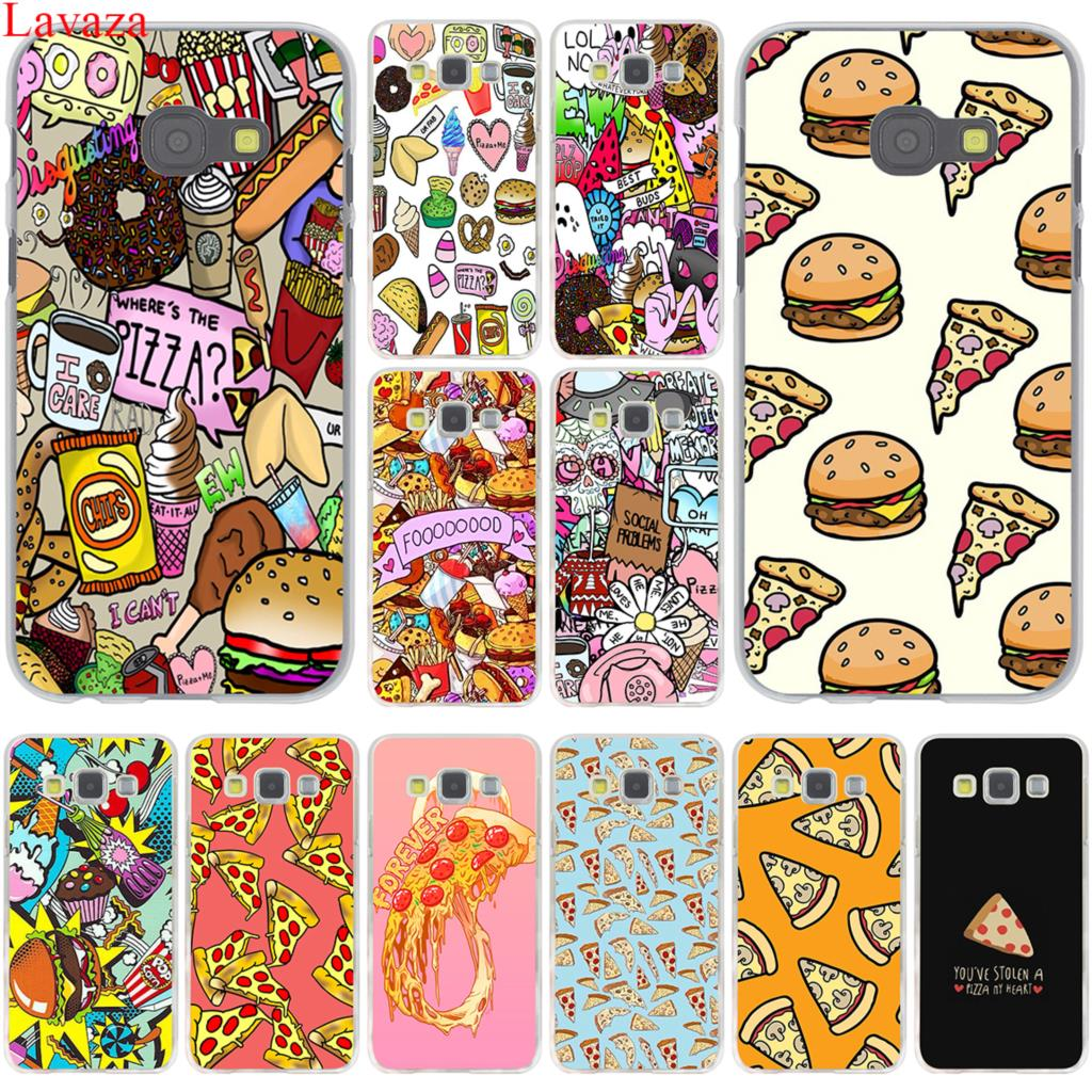 Lavaza Fashion Chips Pizza food Hamburgers Hard for Samsung Galaxy A3 A5 A7 A8 2015 2016 2017 2018 Grand Prime Note 8 5 4 3 2