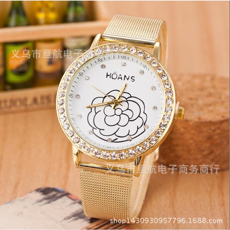 Women Minimalist Fashion Casual Watch Women Dress Wristwatch Crystal Diamond Golden Couple Watch Relogio Faminino Zegarek Damski