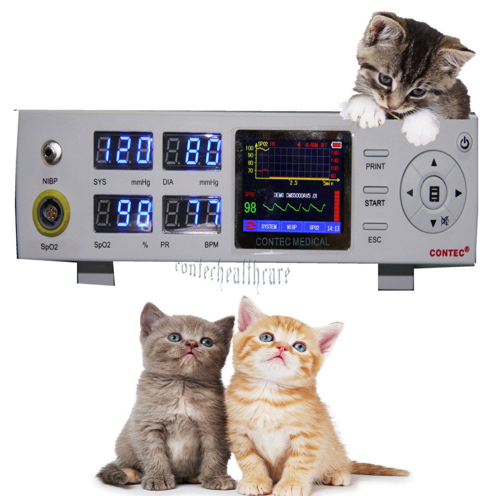 Vet Veterinary Blood pressure Monitor + SPO2+ NIBP +PR 2 years warranty CMS5000BVet Veterinary Blood pressure Monitor + SPO2+ NIBP +PR 2 years warranty CMS5000B