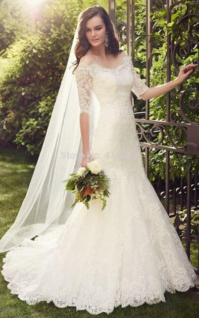 Wedding Dress With Detachable Jacket Lace Y Vintage 2 Piece Dresses Mermaid Plus Size