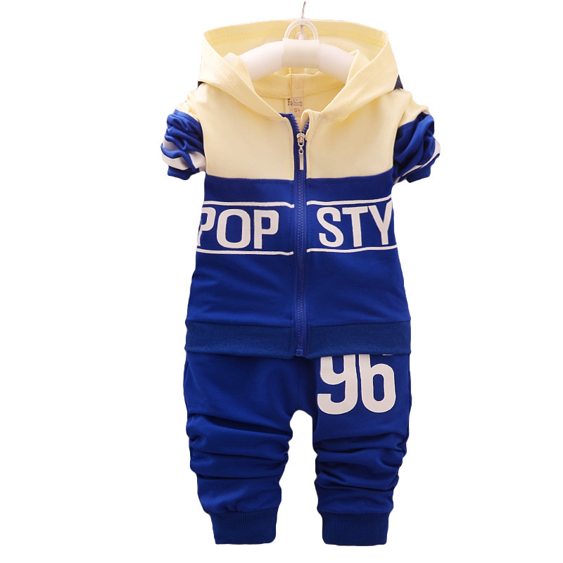 Clothes children new arrival baby boys/girls hoodied coats +pants sets fashion clothing sports suit kids tracksuit fit 1-4 years