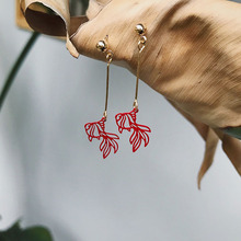 Модные Простые полые серьги золотые рыбки для женщин праздничные креативные серьги длинные висячие серьги вечерние Ювелирные изделия Подарки для девушек