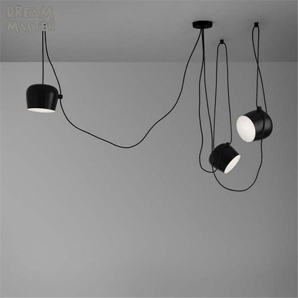 Modern Art Decoration Ceiling Lights For Home Lighting E27 Lamp Lustre Vintage Luminaire Light Fixtures black white metal lamp black and white round lamp modern led light remote control dimmer ceiling lighting home fixtures