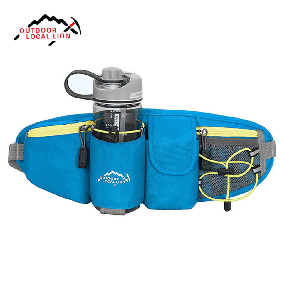 LEÓN LOCAL Cintura Bolsa de fanny pack de Cinturón Botella de Agua Al Aire Libre